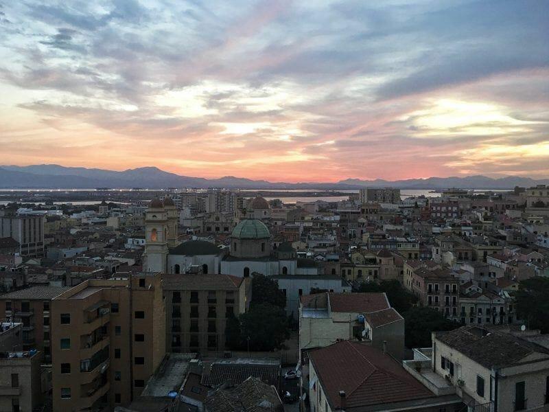 Cagliari sunset views