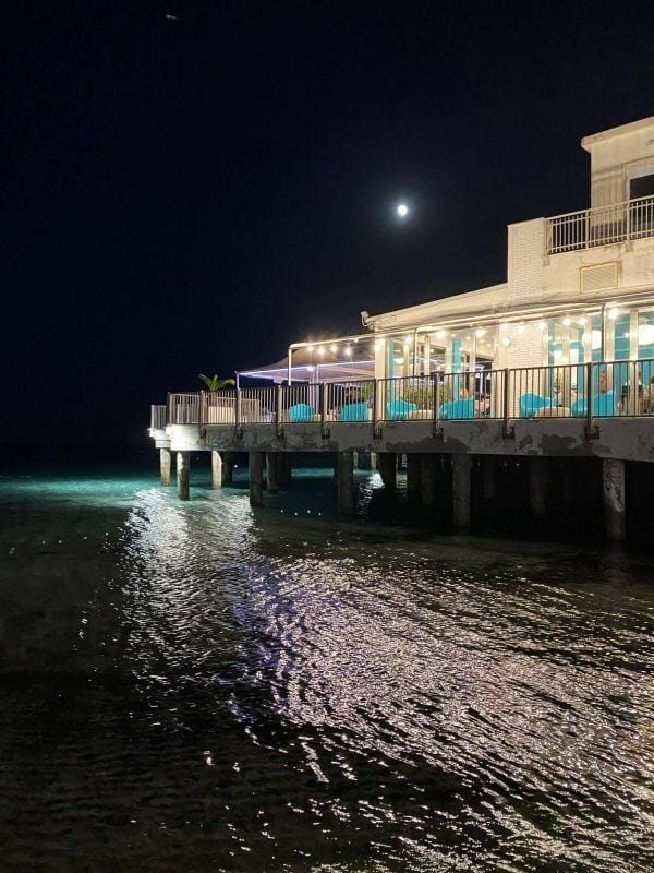 Poetto at night
