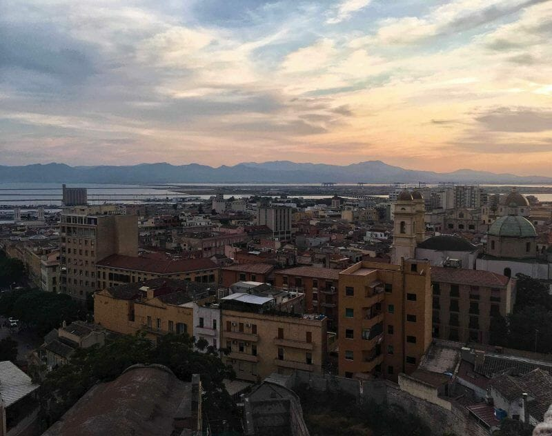sunset in Cagliari
